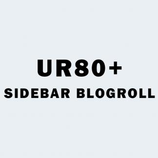UR 80+ Sidebar Blogroll